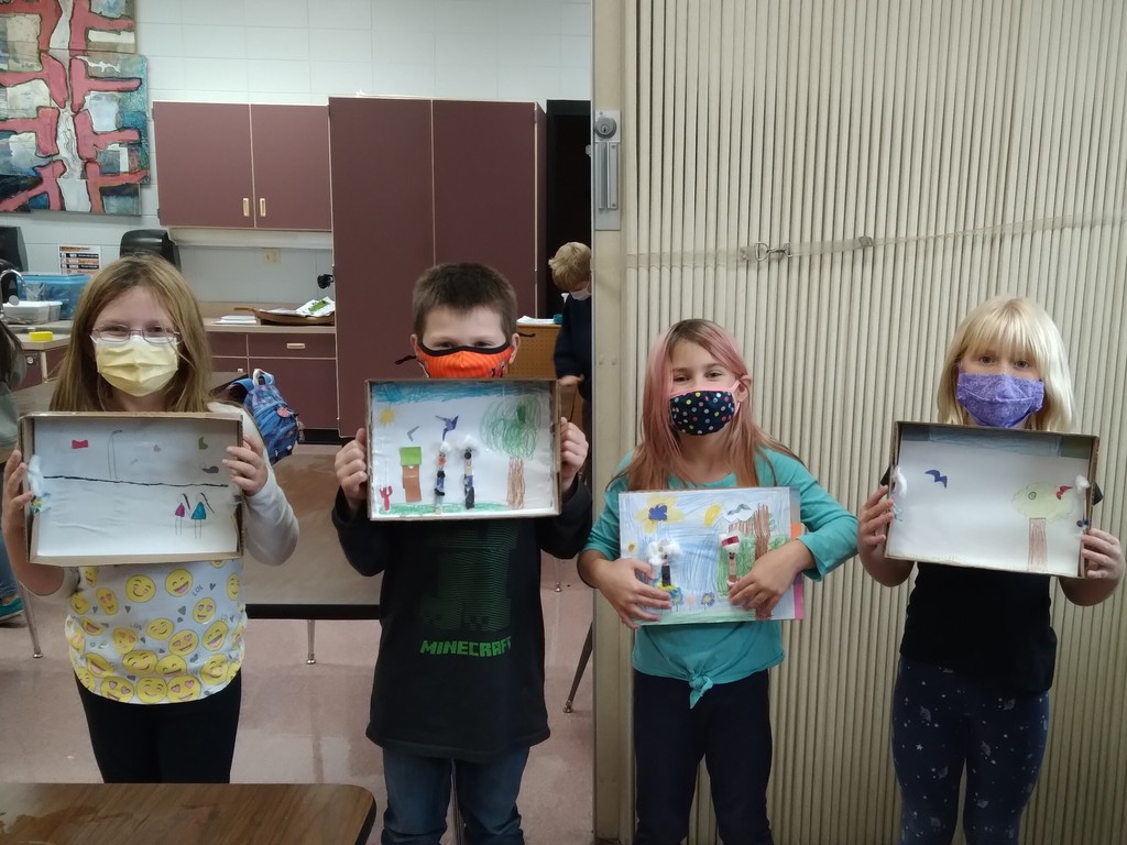 All About Me Club - students created stick people!