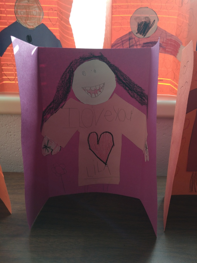 "Lila's ""Send a Hug"" card for a Preston Place Resident."