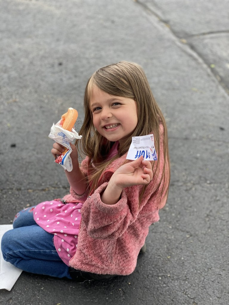 Avery Fink unwrapped the orange Dilly Bar and won a year of treats at Dairy Queen.