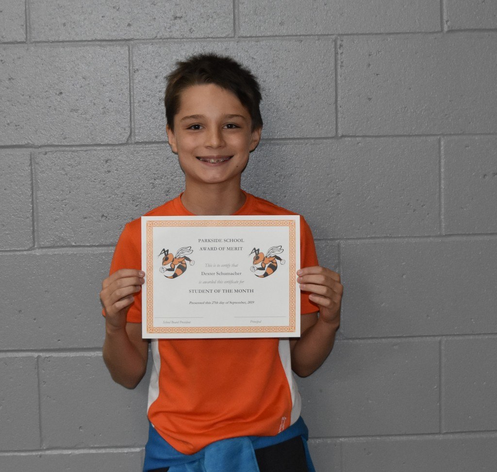Parkside's Student of the Month