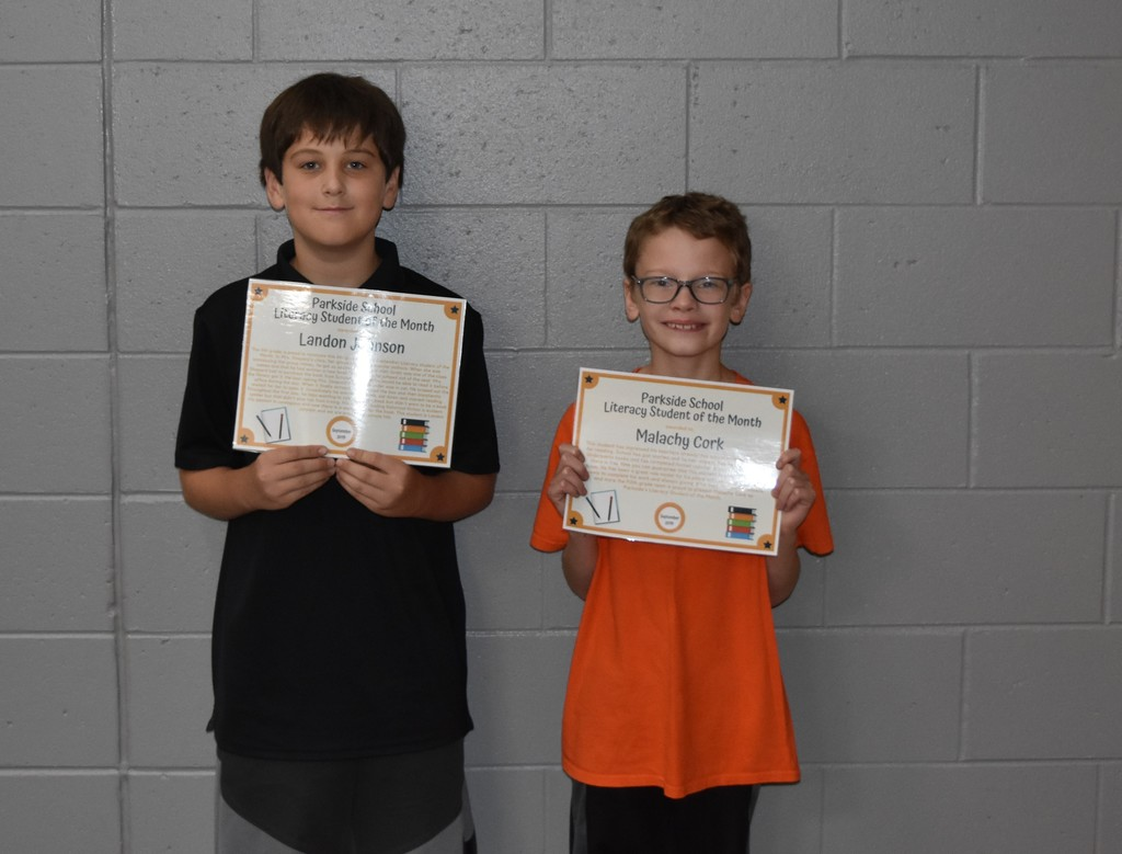 September Literacy Students of the Month