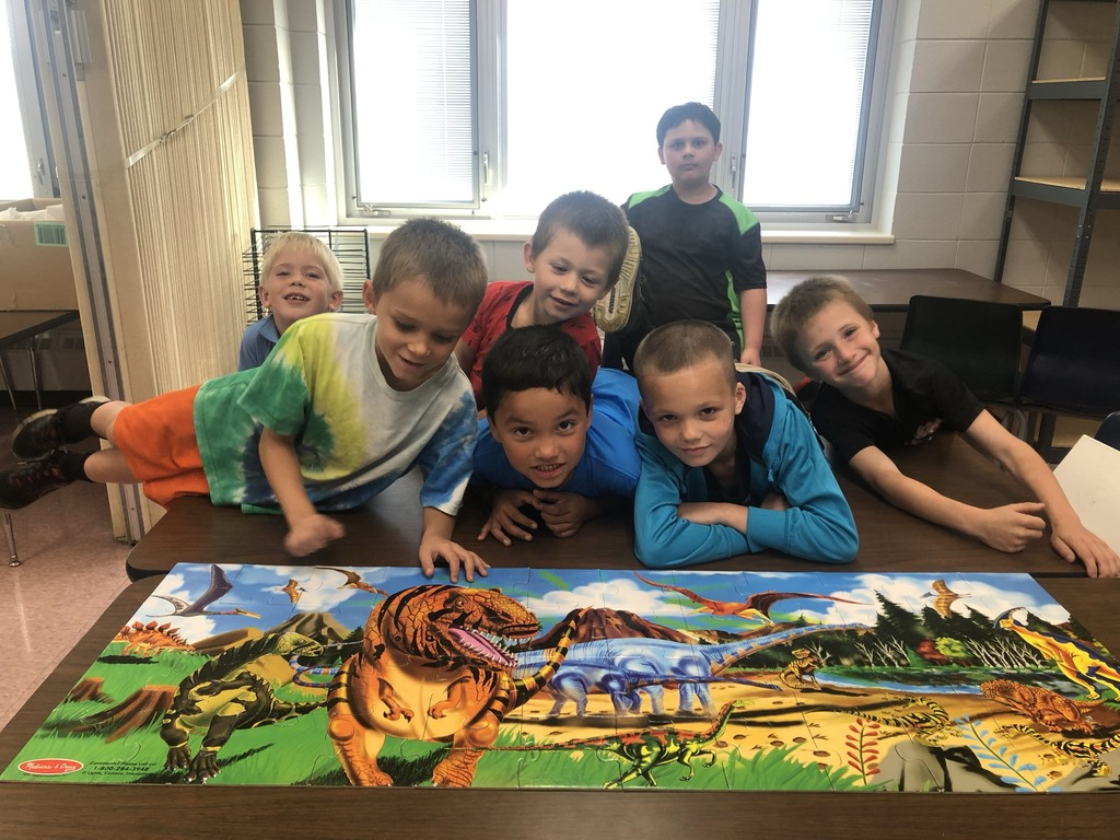 Redgranite A+ Students worked on a puzzle during academic time when they didn't have homework.