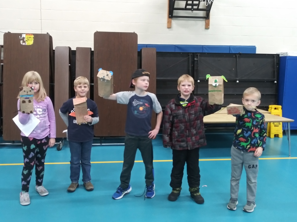 Students created animal puppets in 4-H Cloverbuds at Riverview A+ After School Program.