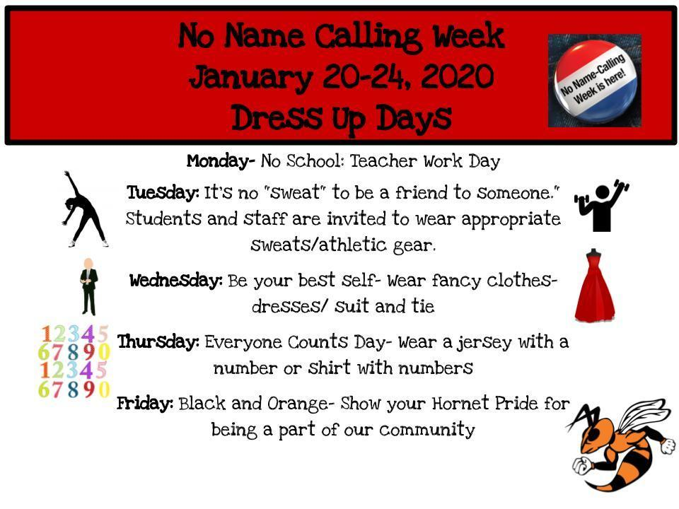 NNCW Dress Up Days