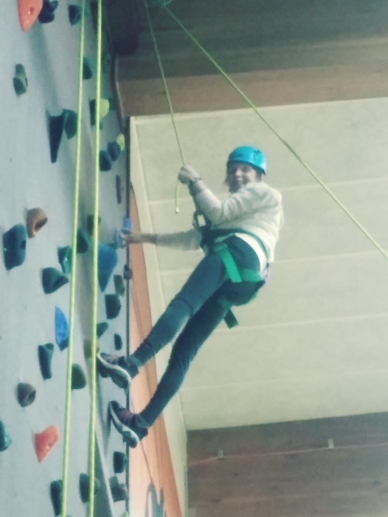 Adult Rock wall Climb