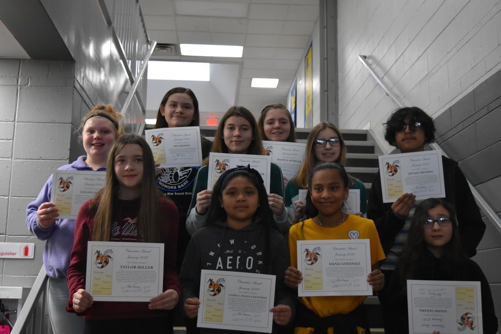 Middle School Character Awards
