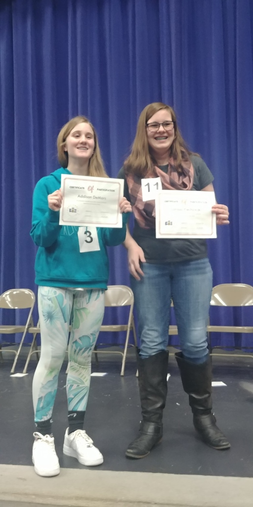 7th Grade Spelling Bee Participants