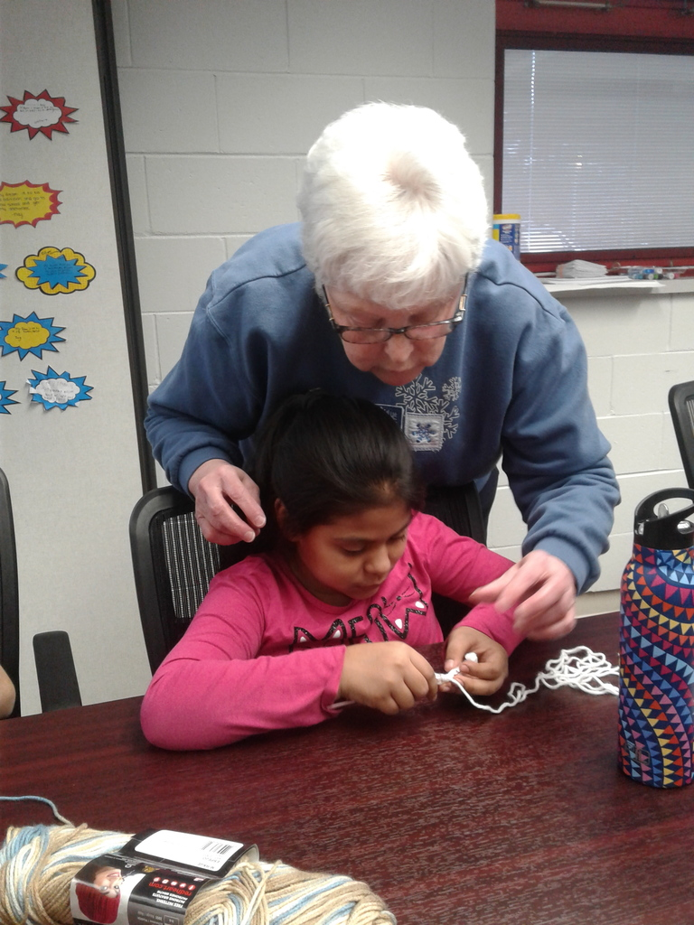 Parkside A+ Crochet Group with Dept. of Aging Volunteers!
